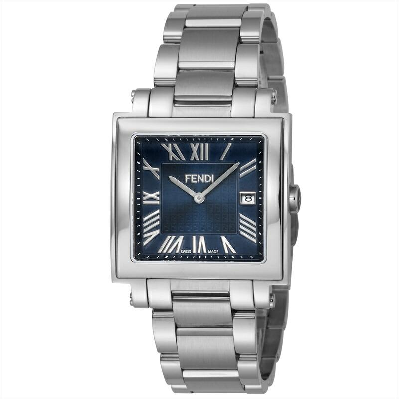 フェンディ FENDI メンズ腕時計 QUADOROMEN F606013000 ネイビー