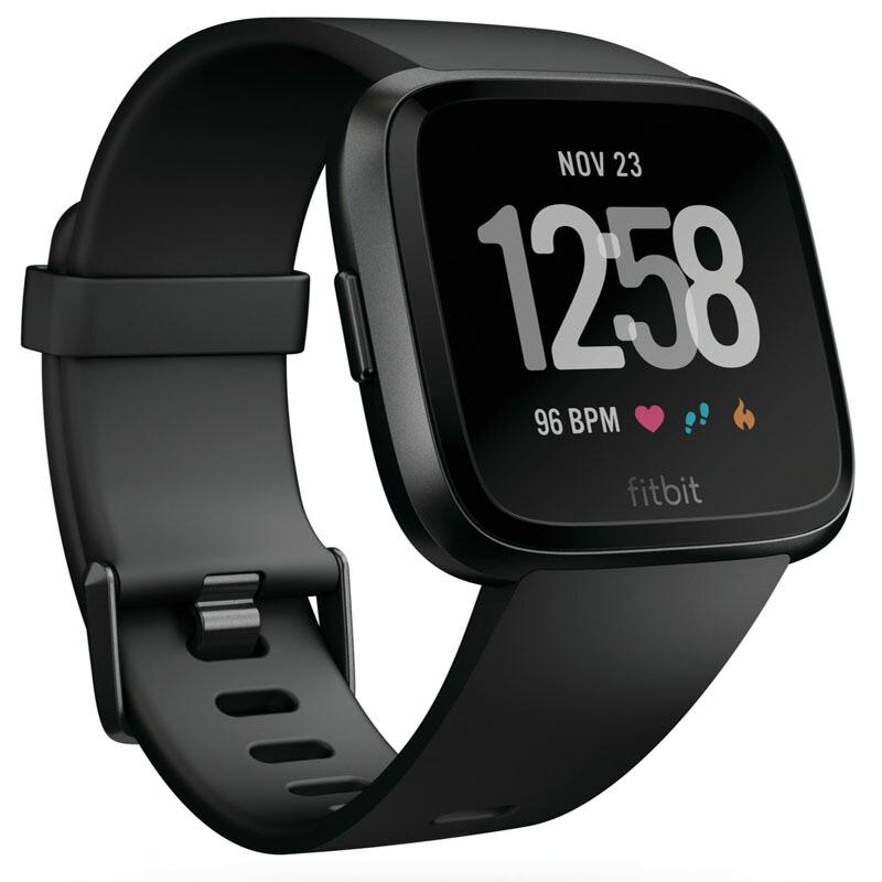 フィットビット Fitbit スマートウォッチ FB505GMBK-CJK ユニセックス Versa ブラック