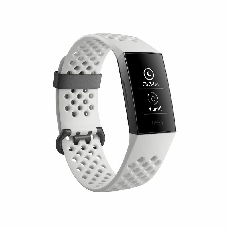 フィットビット Fitbit スマートウォッチ FB410GMWT-CJK ユニセックス Charge 3 ホワイト