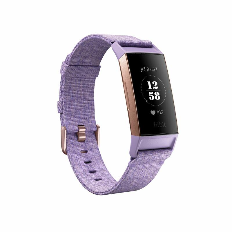 フィットビット Fitbit スマートウォッチ FB410RGLV-CJK ユニセックス Charge 3 ラベンダー