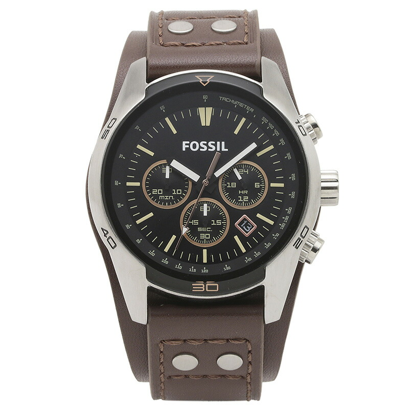 フォッシル FOSSIL 腕時計 CH2891 COACHMAN ブラック ステンレス