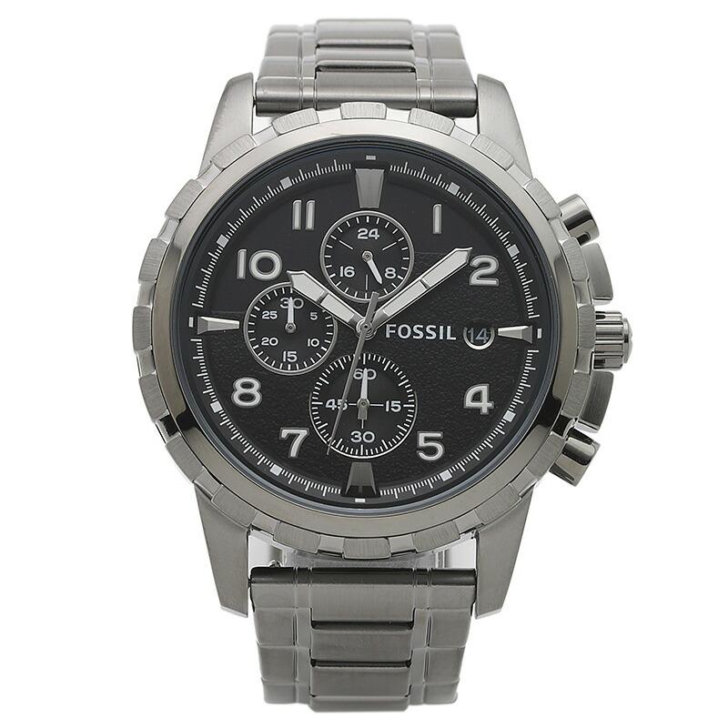 フォッシル FOSSIL 腕時計 FS4721 DEAN ブラック ステンレス