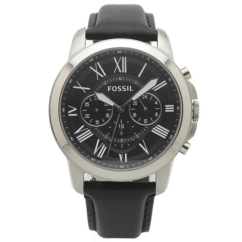 フォッシル FOSSIL 腕時計 FS4812IE GRANT ブラック ステンレス