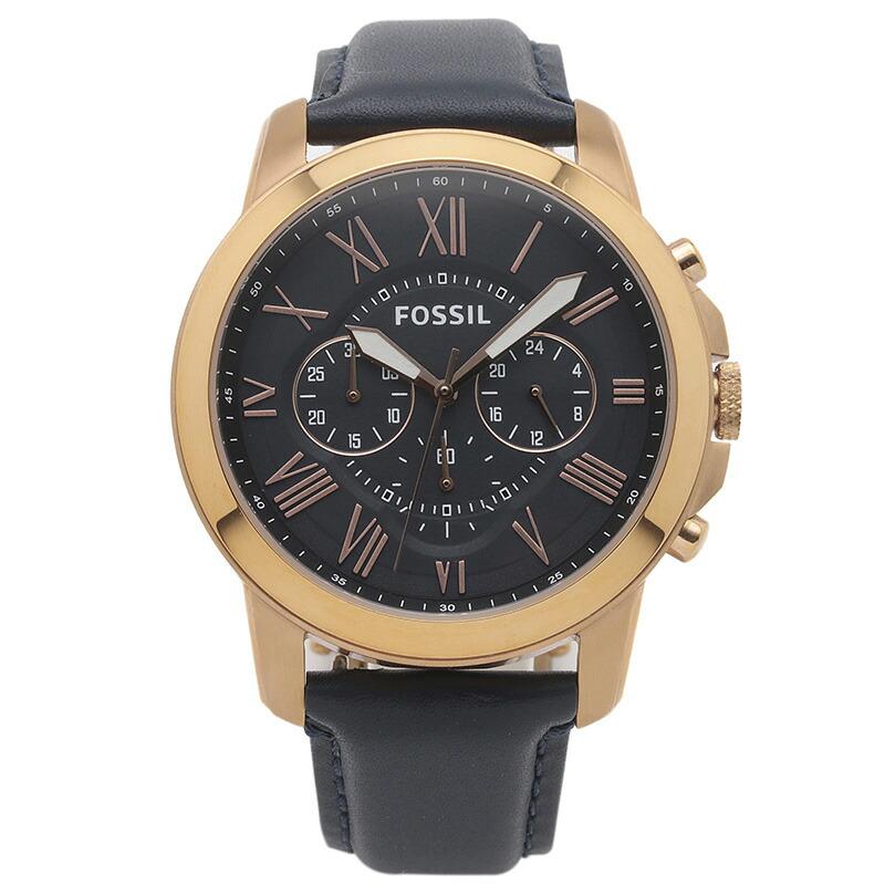 フォッシル FOSSIL 腕時計 FS4835IE GRANT ネイビー ステンレス