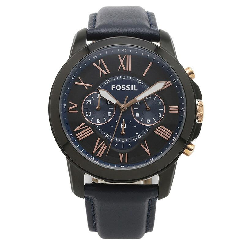 フォッシル FOSSIL 腕時計 FS5061IE GRANT ブラック/ネイビー ステンレス