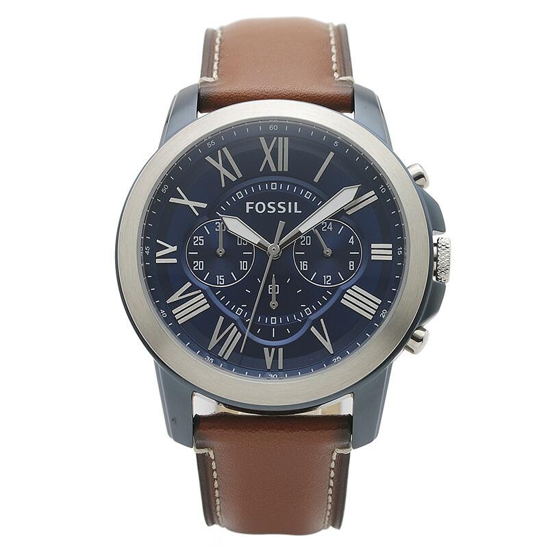 フォッシル FOSSIL 腕時計 FS5151 GRANT ネイビー ステンレス