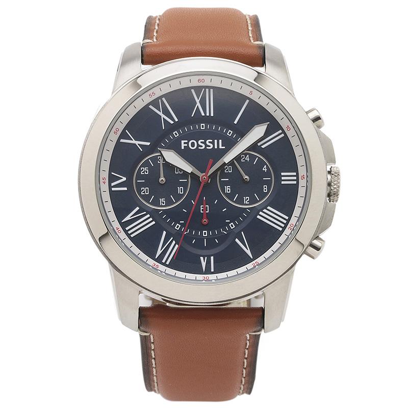 フォッシル FOSSIL 腕時計 FS5210IE GRANT ネイビー ステンレス