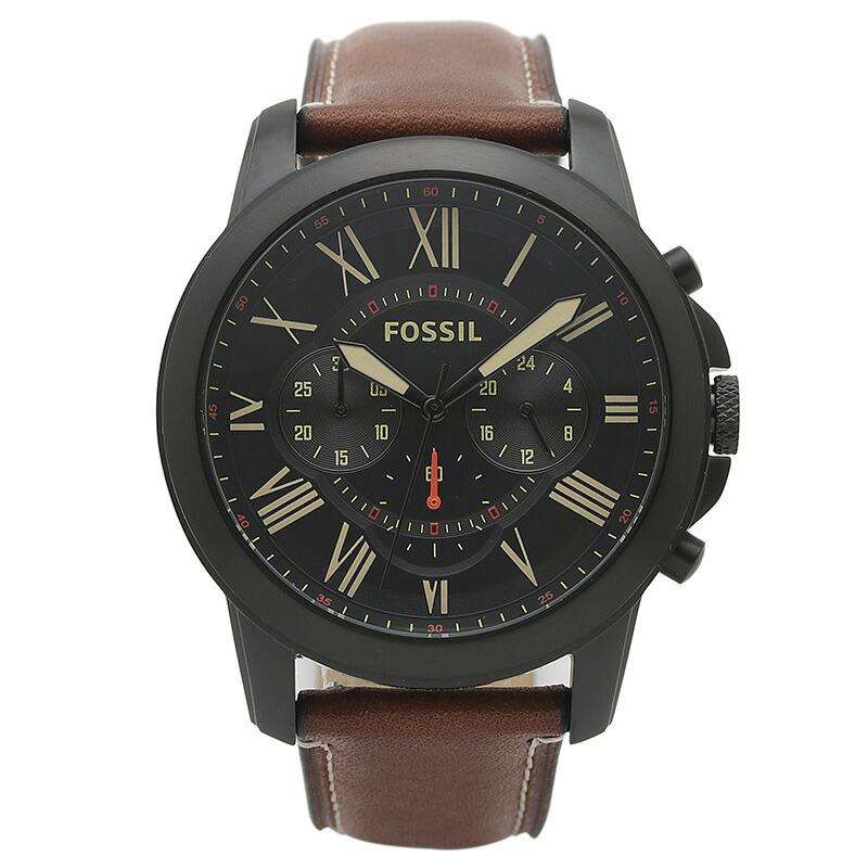 フォッシル FOSSIL 腕時計 FS5241 GRANT ブラック ステンレス