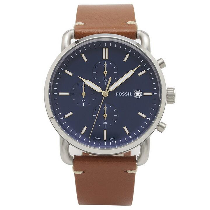フォッシル FOSSIL 腕時計 FS5401 COMMUTER ブルー ステンレス