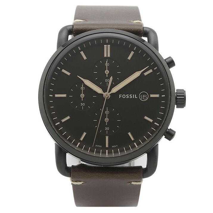 フォッシル FOSSIL 腕時計 FS5403 COMMUTER ブラック ステンレス