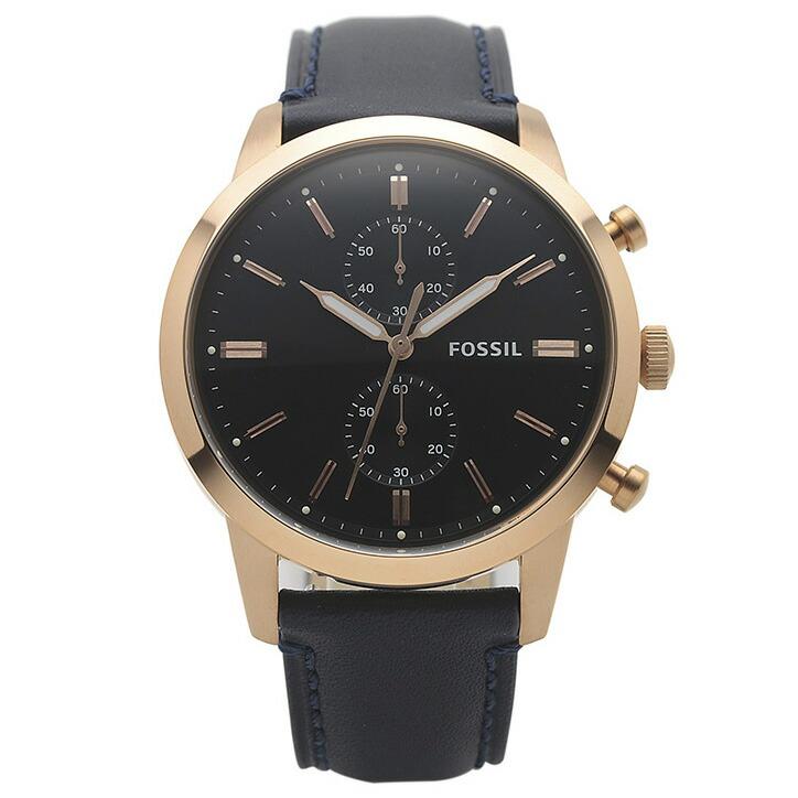 フォッシル FOSSIL 腕時計 FS5436 TOWNSMAN ネイビー ステンレス