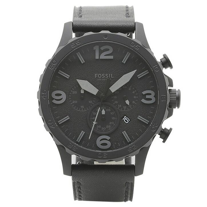 フォッシル FOSSIL 腕時計 JR1354 NATE ブラック ステンレス