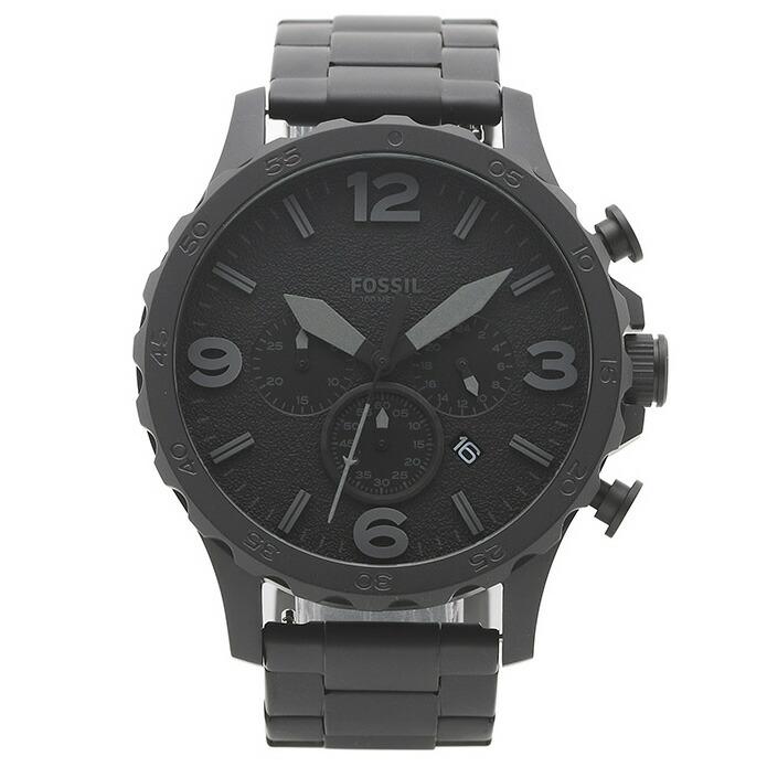 フォッシル FOSSIL 腕時計 JR1401 NATE ブラック ステンレス