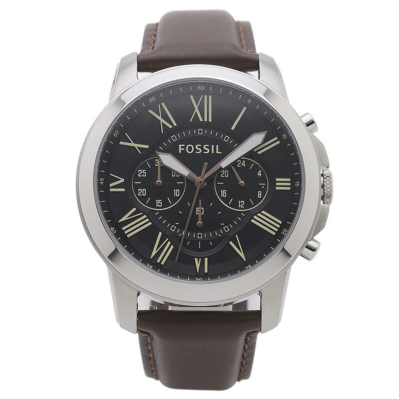 フォッシル FOSSIL 腕時計 FS4813IE GRANT ブラウン ステンレス