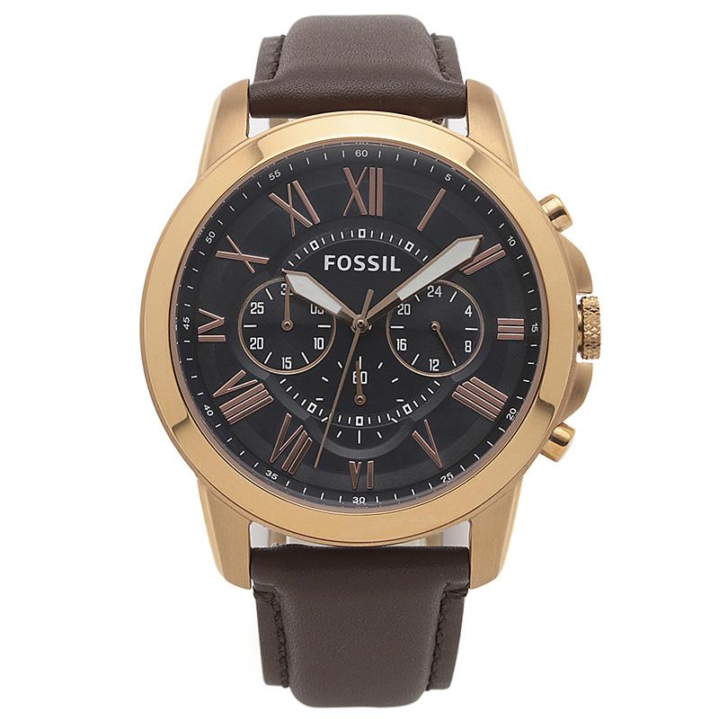 フォッシル FOSSIL 腕時計 FS5068IE GRANT ブラック ステンレス