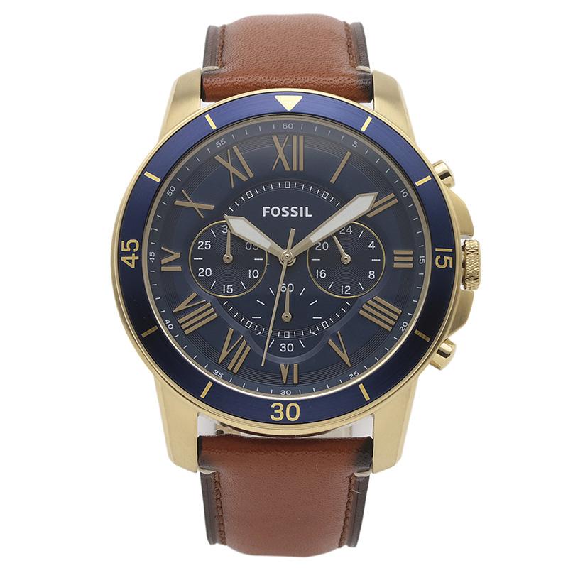 フォッシル FOSSIL 腕時計 FS5268 GRANT ブルー ステンレス