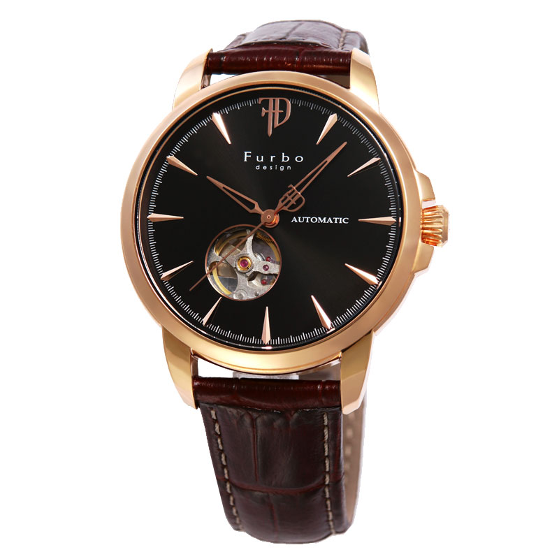 フルボデザイン Furbo design メンズ腕時計 F5027PBKBR 5027 ブラック