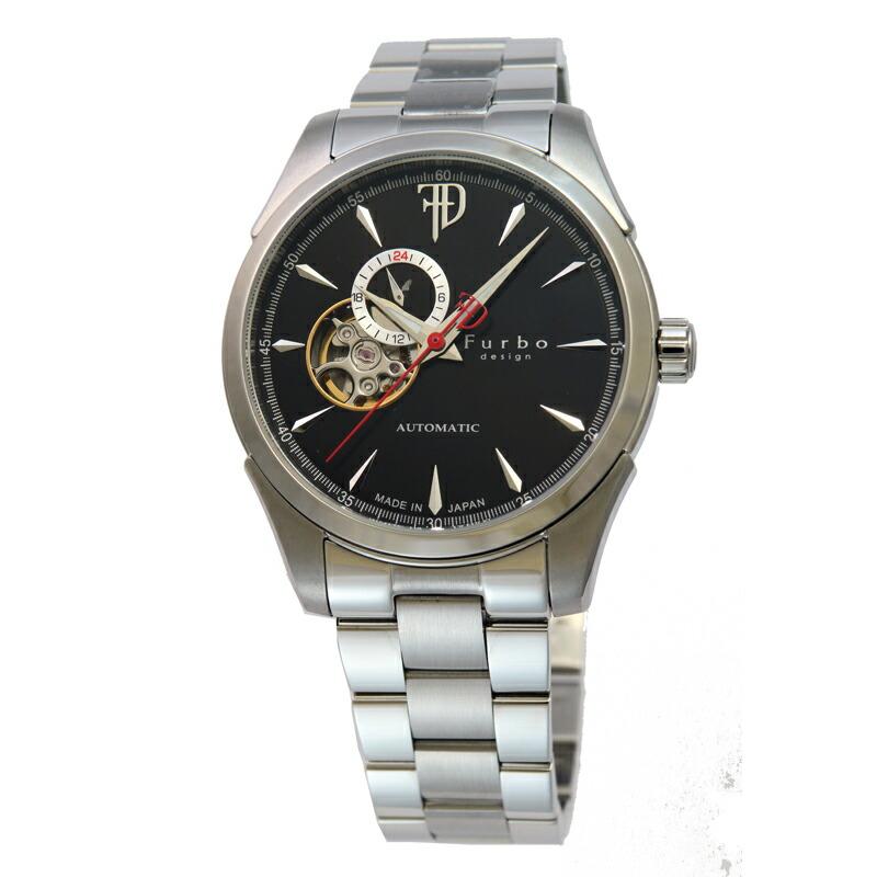 フルボ Furbo 腕時計 メンズ F5029BKSS ブラック