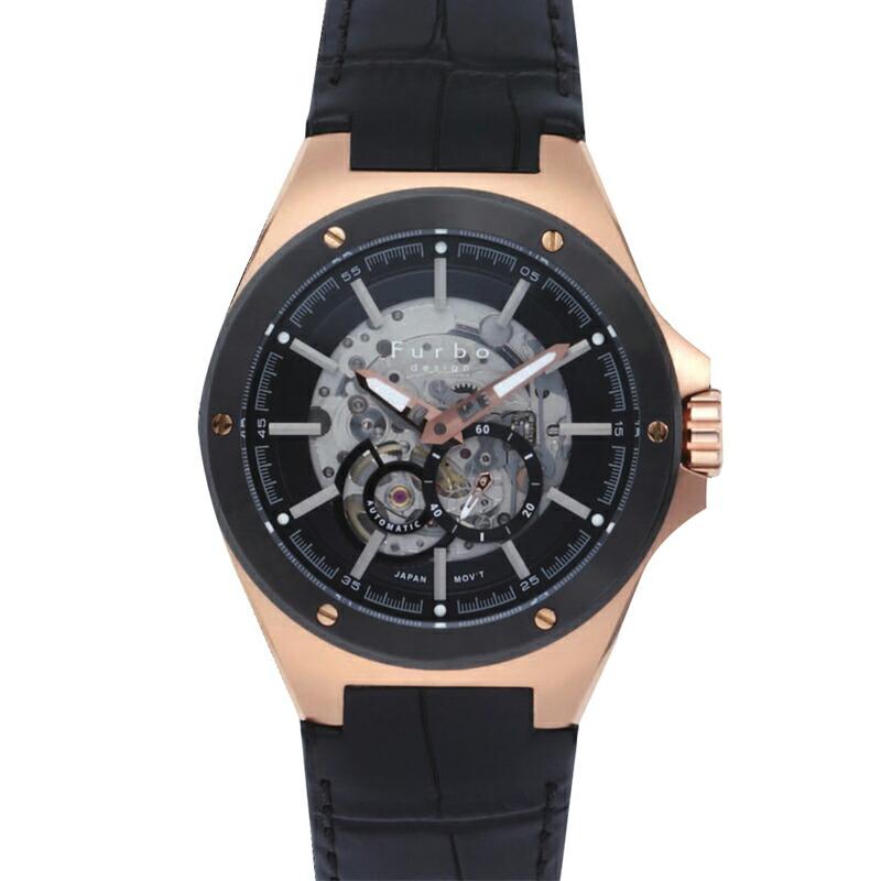 フルボ Furbo 腕時計 メンズ F2501PBKBK ブラック