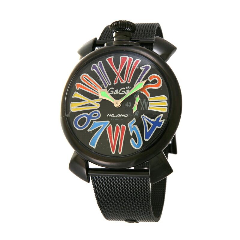 【アウトレット】 ガガミラノ GaGa MILANO メンズ腕時計 5082.1 ブラックメッシュ