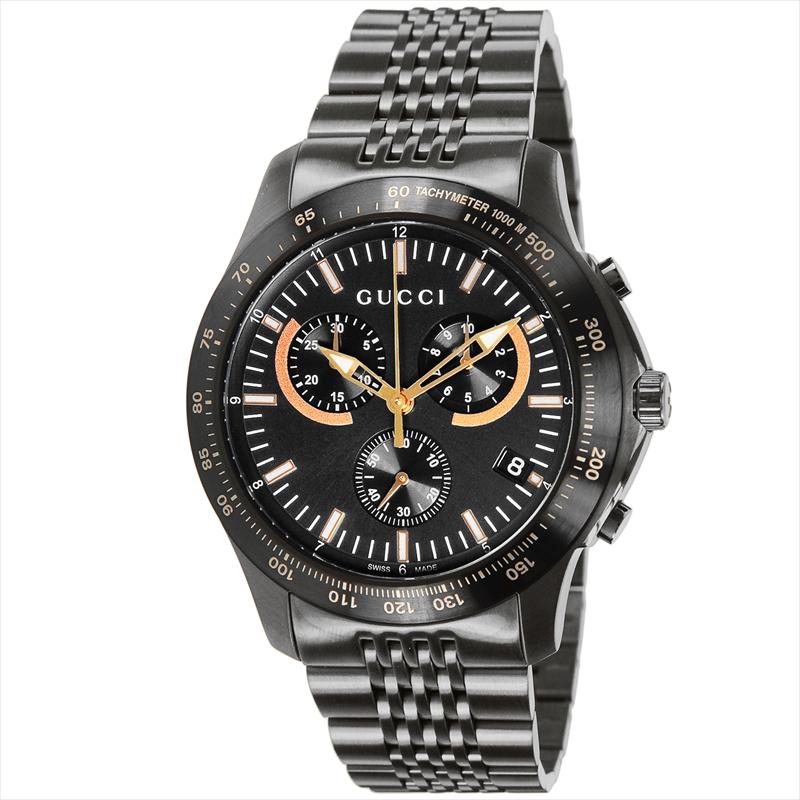 【店内全品送料無料~3/11】グッチ GUCCI 腕時計 Gタイムレス ブラック YA126260