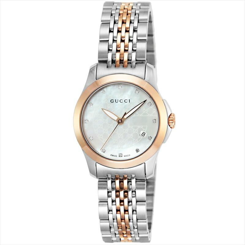 グッチ 最安値挑戦 GUCCI 腕時計 Gタイムレス ホワイトパール YA126539 大特価