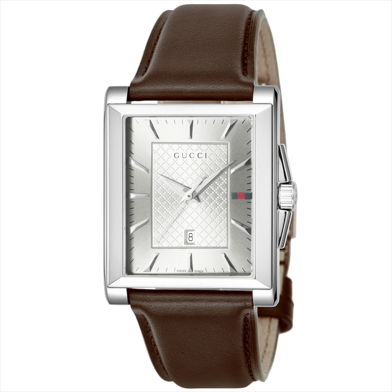 【店内全品送料無料~3/11】グッチ GUCCI メンズ腕時計 レクタングル YA138405 シルバー