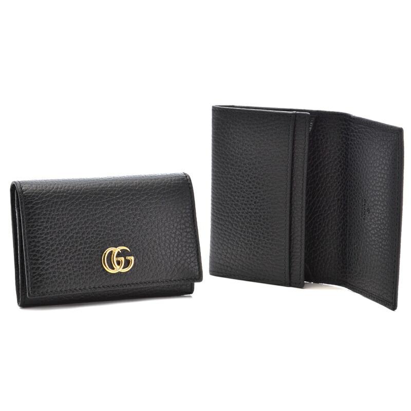 グッチ GUCCI メンズカードケース プチマーモント 474748-CAO0G ブラック