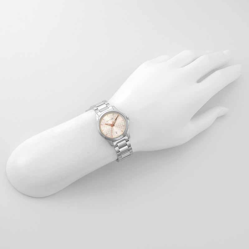 【店内全品~8/31】グッチ  GUCCI レディース 腕時計 Gタイムレス YA126593