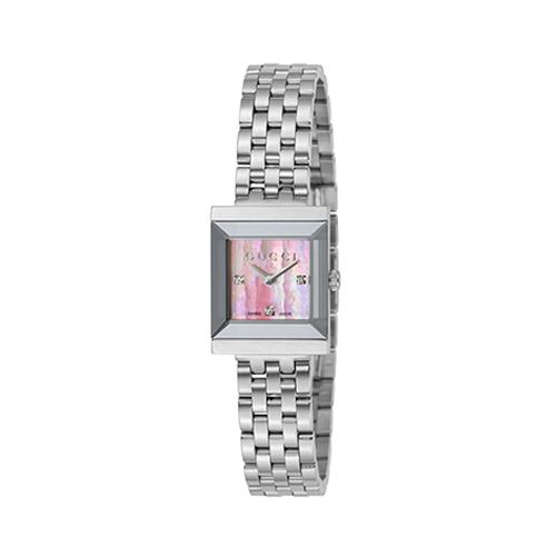 グッチ GUCCI 腕時計 1500 YA128401 Gフレーム ピンクパール