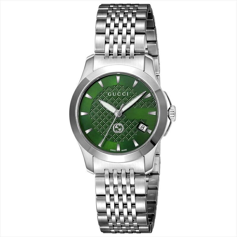 グッチ GUCCI レディース腕時計 Gタイムレス YA1265008 グリーン