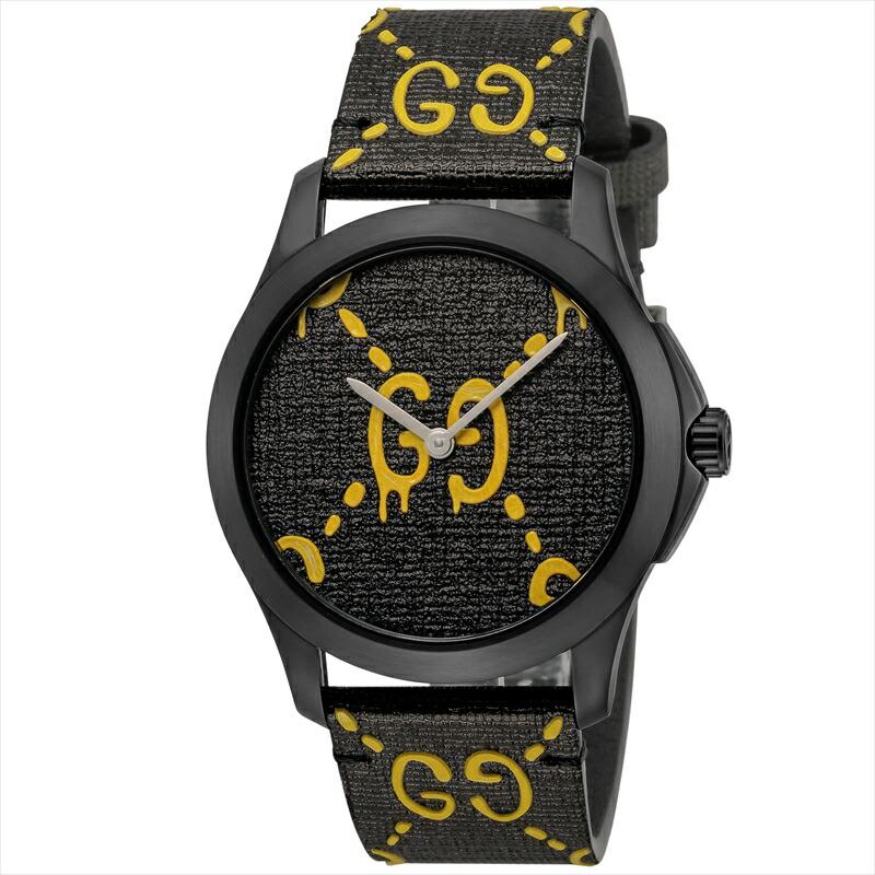 グッチ GUCCI メンズ腕時計 Gタイムレス YA1264019 ブラック