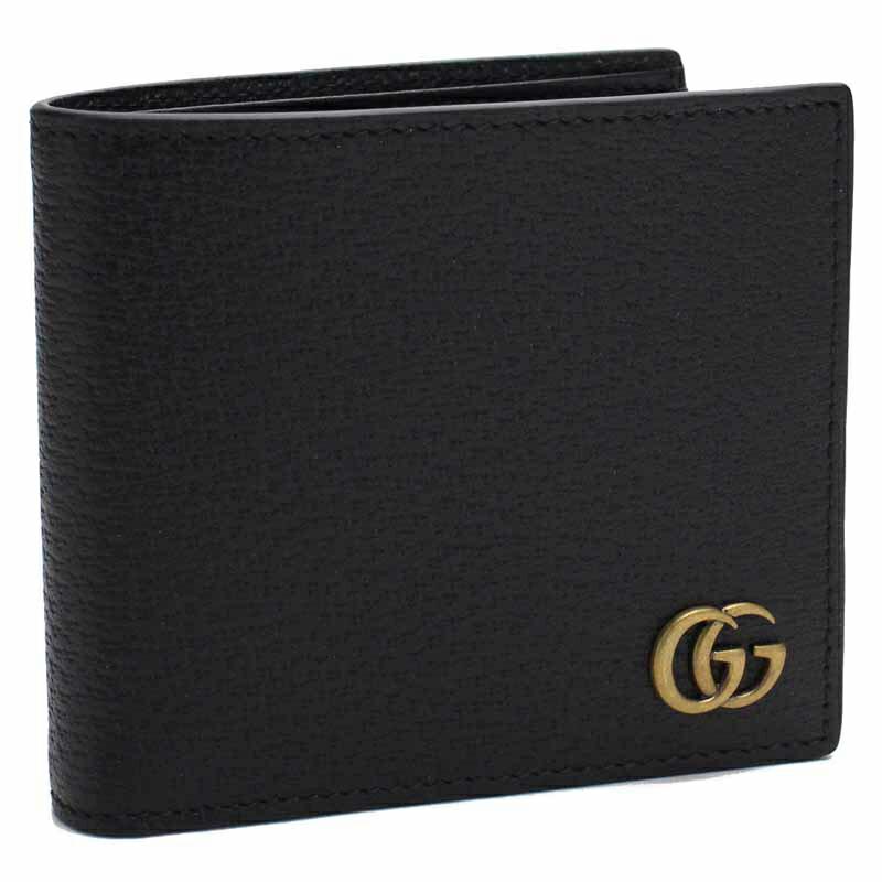 グッチ GUCCI 二つ折財布 428725-DJ20T ブラック