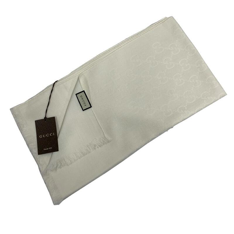グッチ GUCCI マフラー 165904-3G646 ホワイト 9000