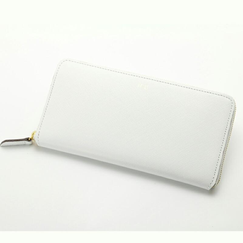 エイチアンドディ H&D ラウンドジップ長財布 HDK1-11 ホワイト