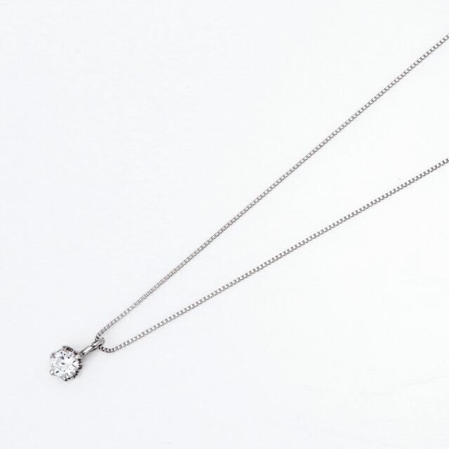 シンプルダイヤモンド プラチナダイヤネックレス DPTNC016