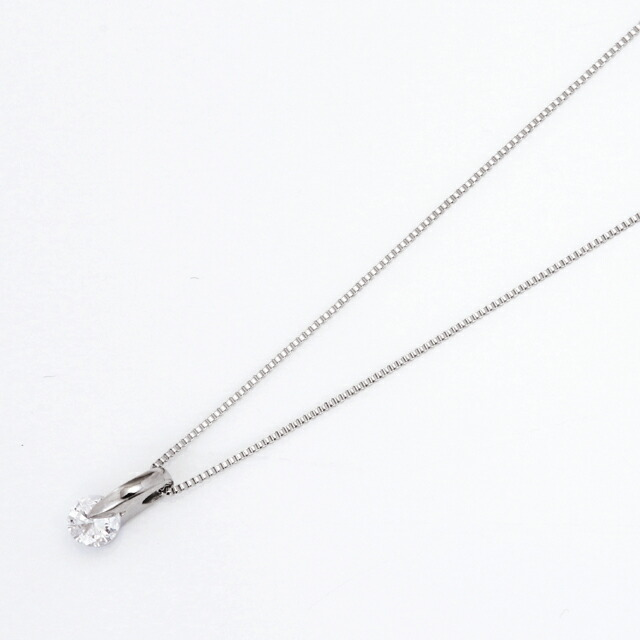 シンプルダイヤモンド プラチナダイヤネックレス DPTNC011