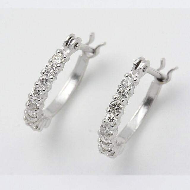 シンプルダイヤモンド K18WGダイヤピアス DTETAPE2W