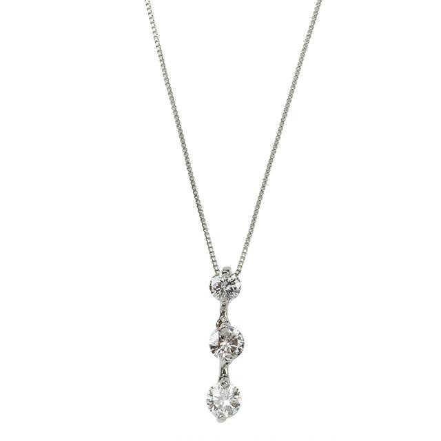 シンプルダイヤモンド プラチナダイヤネックレス DZH202HSI43