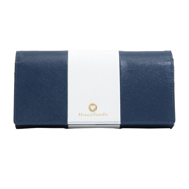 ハッピーキャンドル HappyCandle 二つ折り長財布 HC-A4-8 NV/WT