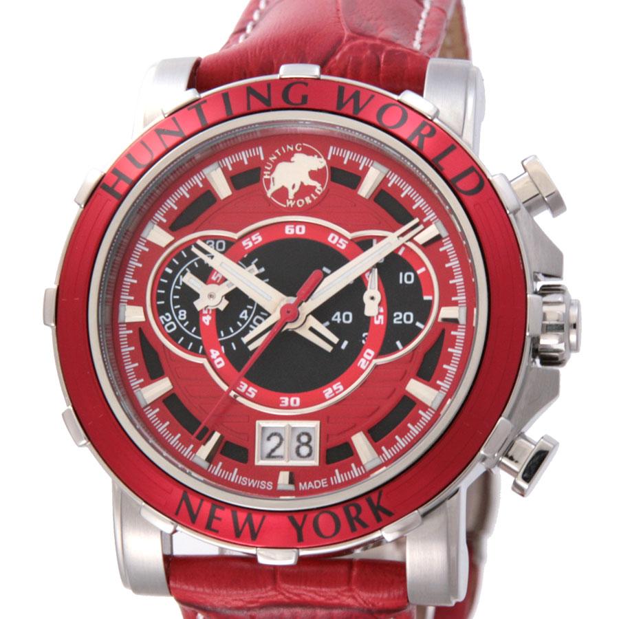 ハンティングワールド HUNTING WORLD 腕時計 メンズ イリス レッド HW913RD:ブランドショップハピネス