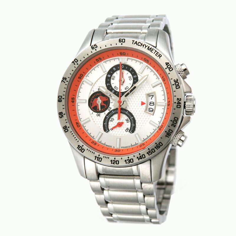 ハンティングワールド HUNTING WORLD メンズ腕時計 HW403SI ステンレス