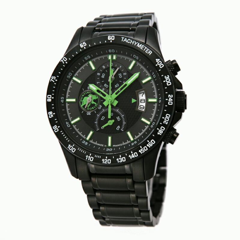 ハンティングワールド HUNTING WORLD メンズ腕時計 HW403GR ステンレス