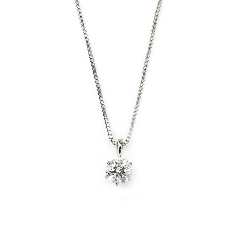 プラチナ0.2ctダイヤモンドネックレス