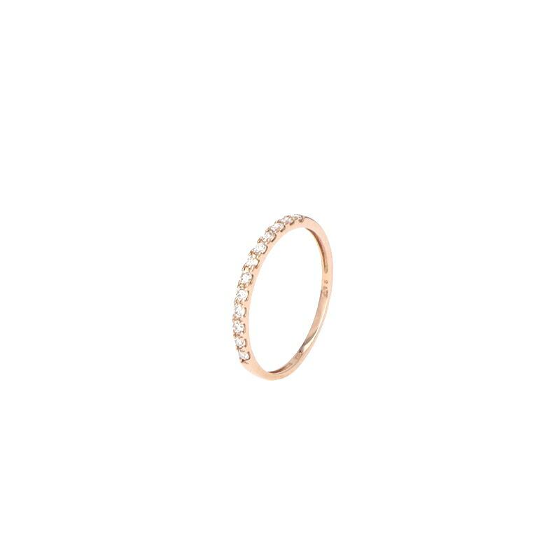 送料無料でお届けします エタニティリング K18 ピンクゴールド #9 ダイヤモンド クリアランスsale!期間限定! 0.15ct