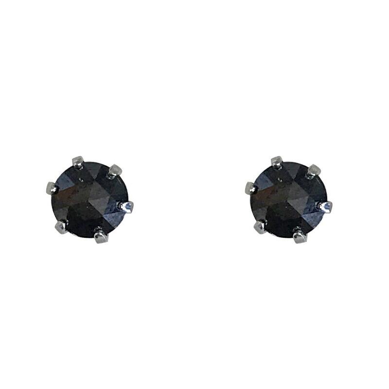 プラチナ900ブラックダイヤピアス