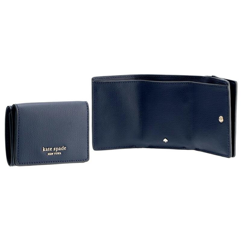ケートスペード KATESPADE 三つ折財布 PWRU7395 BLAZER BLUE