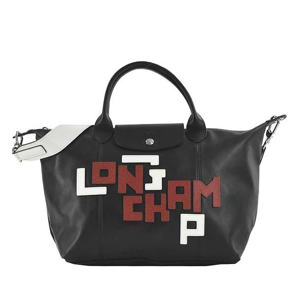 ロンシャン LONGCHAMP ハンドバッグ SAC PORTE MAIN LE PLIAGE CUIR LGP 1515 NOIR
