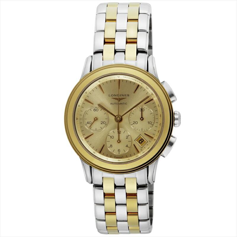 ロンジン LONGINES メンズ腕時計 フラッグシップ L4.803.3.32.7 ゴールド