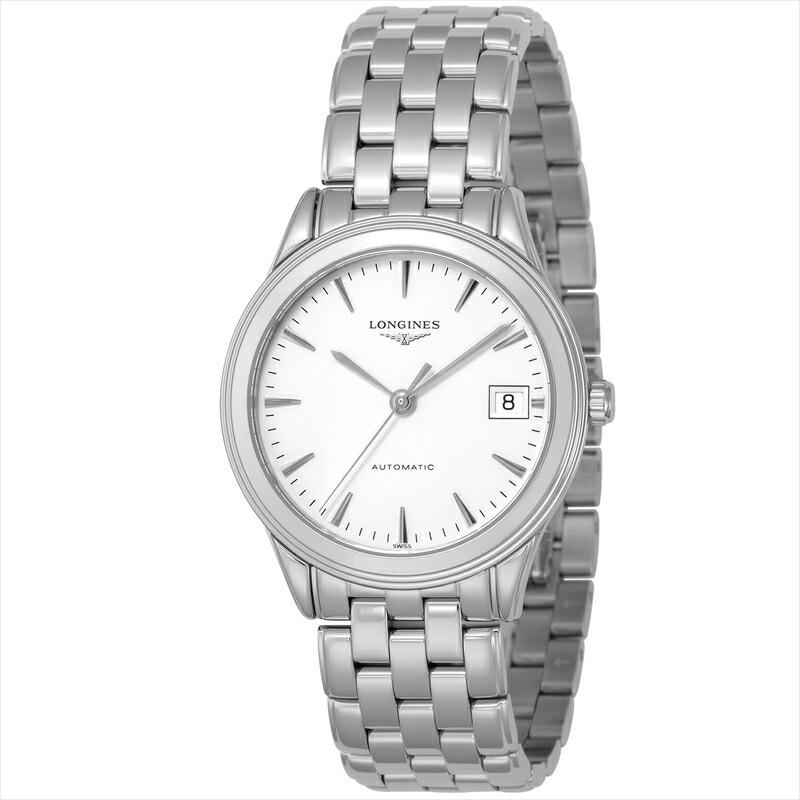 ロンジン LONGINES メンズ腕時計 フラッグシップ L4.774.4.14.6 ホワイト